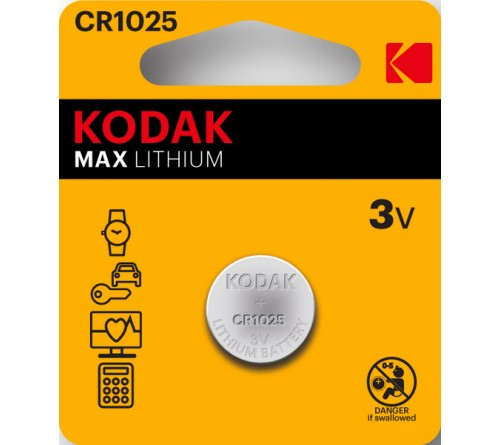 Батарейка KODAK              CR1025  ( 1BL)(  60)(120)